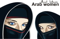 Arab women on a transparent background. Royalty Free Stock Image