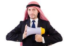 Arab yelling with loudspeaker Stock Image