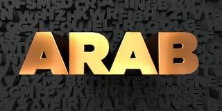 Arab - Złocisty tekst na czarnym tle - 3D odpłacający się królewskość bezpłatny akcyjny obrazek ilustracja wektor