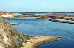 Arabat estuary Royalty Free Stock Photos