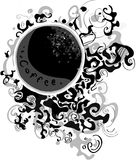 Arabe caffe. It is a vector black-and-white illustration. A cup of coffee with abstract patterns Royalty Free Stock Images