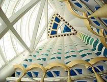 Arabe d'Al de Burj à l'intérieur photos stock