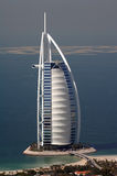 Arabe d'Al de Burj et les îles du monde, Dubaï Image libre de droits