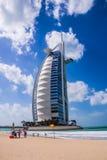Arabe d'Al de Burj, le point de repère le plus reconnaissable de Dubaï Images libres de droits
