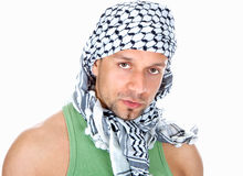 Arabe d'isolement sur le blanc Photographie stock libre de droits