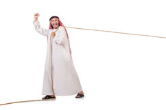 Arabe dans le concept de conflit Photographie stock libre de droits