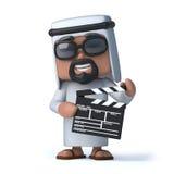 araben 3d gör en film Arkivbilder
