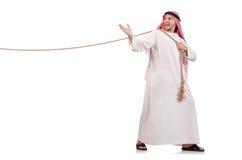 Araber im Tauziehenkonzept Lizenzfreie Stockbilder