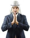 Araber wünscht Sie großes Geschäft Stockbild