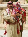 Arabes jordaniens jouant la musique traditionnelle Images libres de droits