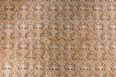 Arabesk ścienne dekoracje w Alhambra, Hiszpania zdjęcia stock