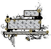 arabesk pudełek prostokątny tekst Fotografia Royalty Free