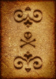 arabesk tła czaszka Zdjęcia Stock