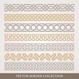 Arabesken-nahtloser geometrischer Grenzsatz vektor abbildung