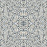 Arabeskowa jaśmin płytka, kwiecisty geometrick mandala na białym tle ilustracja wektor