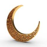 Arabeskowa księżyc Zdjęcie Royalty Free