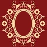 arabeskowa kwiecista rama Fotografia Royalty Free