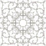 Arabesku stylowy kwiecisty Adamaszkowy czarny i biały wektorowy bezszwowy wzór Elegancja rocznika monochromatyczny tło Abstrakcjo ilustracja wektor