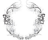 arabesque μαύρο λευκό πλαισίων Στοκ φωτογραφία με δικαίωμα ελεύθερης χρήσης