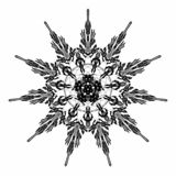Arabesque abstracto de la estrella en color negro en el fondo blanco Mandala antigua de Geometrics Ilustraci ilustración del vector