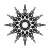 Arabesque abstracto de la estrella en color negro en el fondo blanco Mandala antigua de Geometrics Ilustraci stock de ilustración