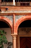 Arabesque archway in Moorish Palace Stock Images