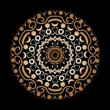 Arabesque on a black background. Beautiful arabesque on a black background royalty free illustration