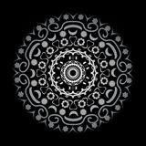Arabesque on a black background. Beautiful arabesque on a black background vector illustration