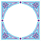 Arabesque blank border Royalty Free Stock Images