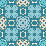 Arabesque blue seamless pattern Royalty Free Stock Photography