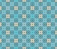 Arabesque blue seamless pattern Stock Photo