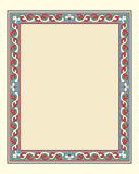 Arabesque border frame Stock Images