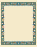 Arabesque border frame Stock Photo