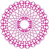 Arabesque carrousell magenta op transparante achtergrond stock illustratie