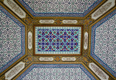 Arabesque ceiling of the Topkapi palace Stock Image