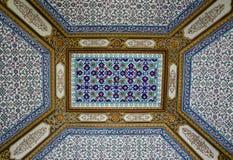 Arabesque ceiling of the Topkapi palace Stock Image