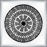 Arabesque circular abstrato ilustração royalty free