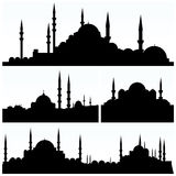 Arabesque City Silhouettes  Royalty Free Stock Photo