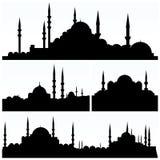 Arabesque City Silhouettes Royalty Free Stock Photo