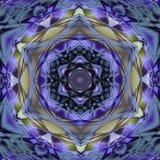 Arabesque de mosaïque de majolique d'Azulejo (Zellige) Tuiles vitrées par modèles géométriques Illustratio graphique détaillé de  Photo libre de droits
