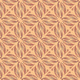 Arabesque decor. Seamless pattern vector. Illustration symmetry Royalty Free Stock Image
