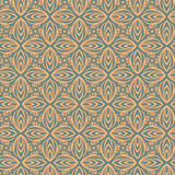 Arabesque decor. Seamless pattern vector. Illustration symmetry Royalty Free Stock Images