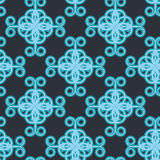 Arabesque decor. Seamless pattern vector. Illustration symmetry Royalty Free Stock Photo