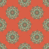 Arabesque decor. Seamless pattern vector. Illustration symmetry Royalty Free Stock Photography