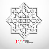 Arabesque design in 3d. Eastern pattern. Sacral geometry. Royalty Free Stock Photography