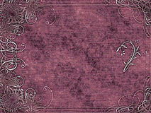Arabesque design on purple Royalty Free Stock Images