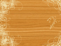 Arabesque design on wood Royalty Free Stock Photo