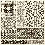 Arabesque Designs. Set of various arabesque design details stock illustration