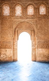 Arabesque door of Granada palace in Spain, Europe. Royalty Free Stock Image