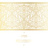 Arabesque eastern element white and gold background vector Royalty Free Stock Photography